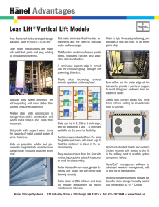 Hänel Advantages Lean Lift Vertical Lift Module