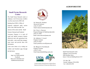 Small Farms Research Center AGROFORESTRY