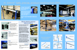Safe, precise, product handling from EMH AL Systems