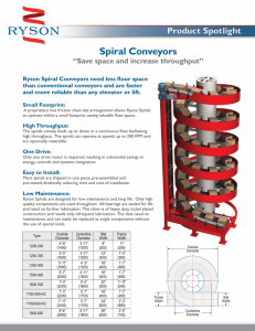 "Spiral Conveyors ""Save space and increase throughput"""