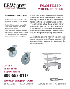 FOAM FILLED WHEEL CASTERS