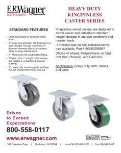 HEAVY DUTY KINGPINLESS CASTER SERIES