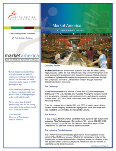 "Market America CUSTOMER CASE STUDY ""Before implementing the Pick-"