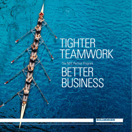 TIGHTER TEAMWORK BETTER BUSINESS