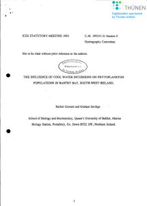 ICES STATUTORY MEETING 1993 C.M. 1993/C:31 Session 0 Hydrography Committee