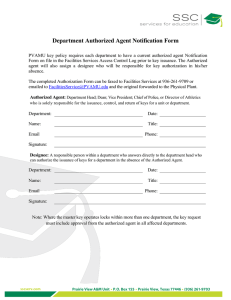 Department Authorized Agent Notification Form