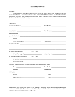 Fire incident report form doc