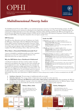The Multidimensional Poverty Index (MPI) is a new