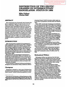 DISTRmUTION OF TWO EXOTIC GRASSES ON INTERMOUNTAIN RANGELANDS:  STATUS IN 1992