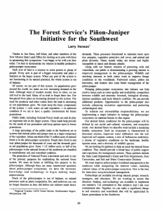 The  Forest  Service's  Piiion-Juniper ens on'