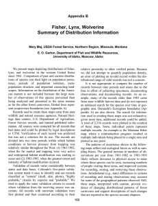 Fisher, Lynx, Wolverine Summary of Distribution Information Appendix B