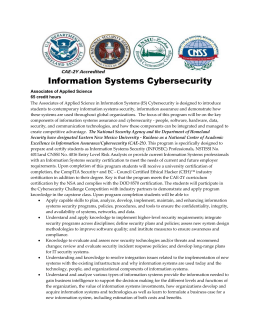 Information Systems Cybersecurity