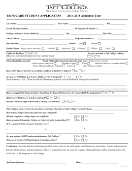 EOPS/CARE STUDENT APPLICATION       ...