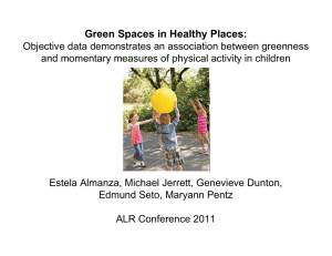 Green Spaces in Healthy Places:
