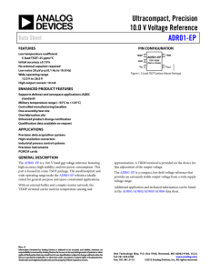 Ultracompact, Precision 10.0 V Voltage Reference ADR01-EP Data Sheet