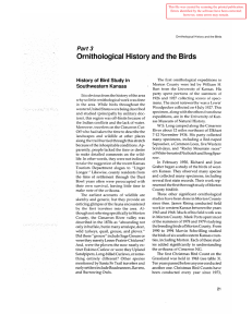 Ornithological History and the Birds 3 Part History of Bird Study in