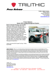 Press  Release  Product Release: Seeker GPS Leakage Management System