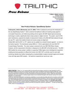 Press  Release  New Product Release: SpeedSweep System