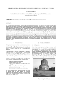 DHAMEK STUPA – DOCUMENTATION OF A CULTURAL HERITAGE IN INDIA