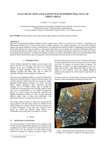 ANALYSIS OF VIEW-ANGLE EFFECTS IN HYPERSPECTRAL DATA OF URBAN AREAS