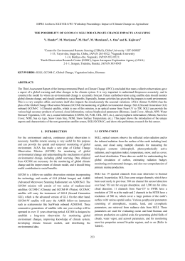 ISPRS Archives XXXVIII-8/W3 Workshop Proceedings: Impact of Climate Change on... THE POSSIBILITY OF GCOM-C1/ SGLI FOR CLIMATE CHANGE IMPACTS ANALYSING