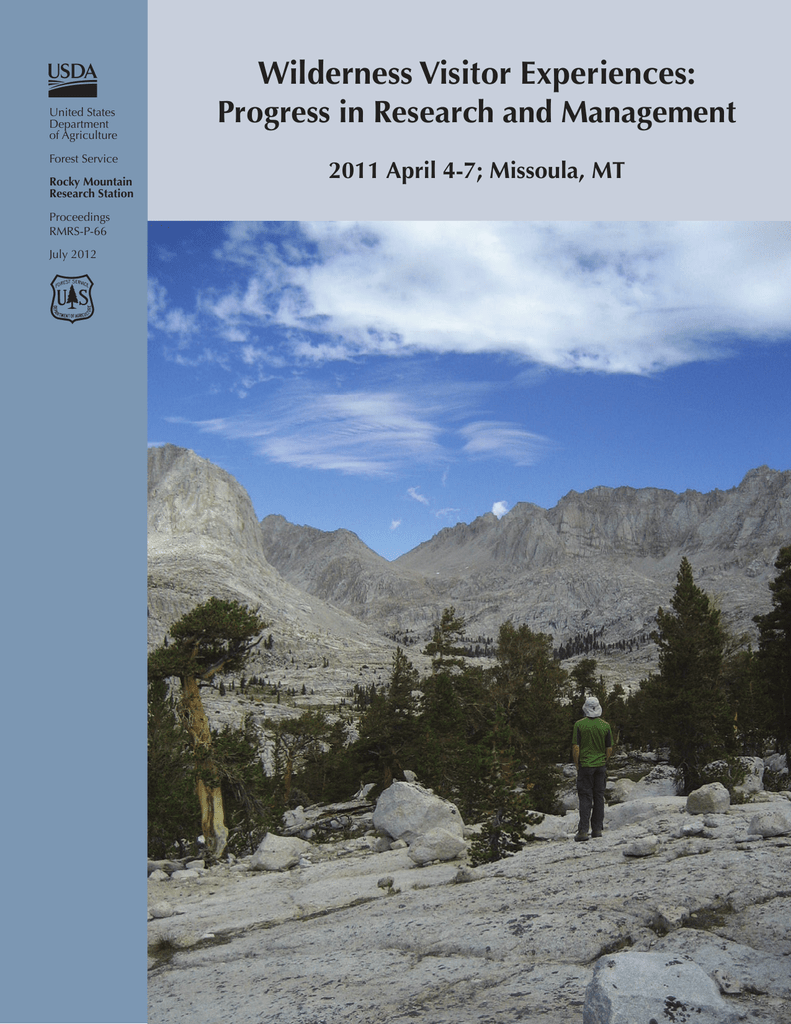 Wilderness Visitor Experiences: Progress in Research and