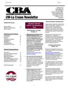 Inside this issue: Departmental Updates Mid-Semester is Friday,