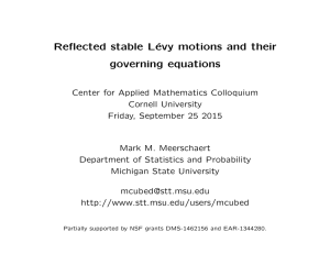 Reflected stable L´ evy motions and their governing equations