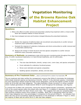 Vegetation Monitoring of the Browns Ravine Oak Habitat Enhancement