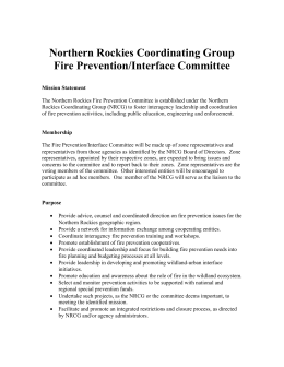 Northern Rockies Coordinating Group Fire Prevention/Interface Committee