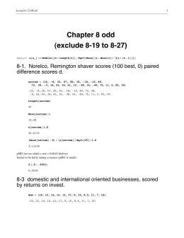 Chapter 8 odd (exclude 8-19 to 8-27) difference scores d.