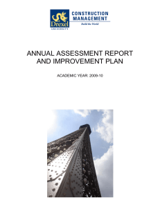 ANNUAL ASSESSMENT REPORT AND IMPROVEMENT PLAN ACADEMIC YEAR: 2009-10