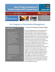B.S. Program in Construction Management In this Report …