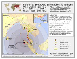 Indonesia: South Asia Earthquake and Tsunami OCHA Situation Report No. 3