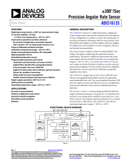 ±300°/Sec Precision Angular Rate Sensor ADIS16135 Data Sheet