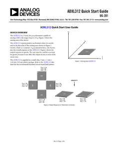 ADXL312 Quick Start Guide UG-281