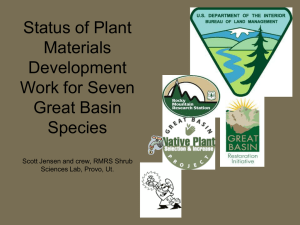 Status of Plant Materials Development Work for Seven