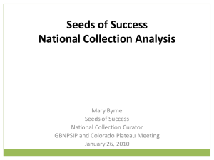 Seeds of Success National Collection Analysis