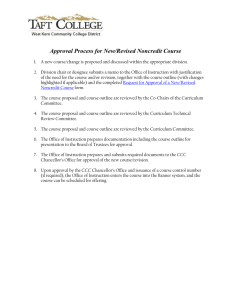 Approval Process for New/Revised Noncredit Course