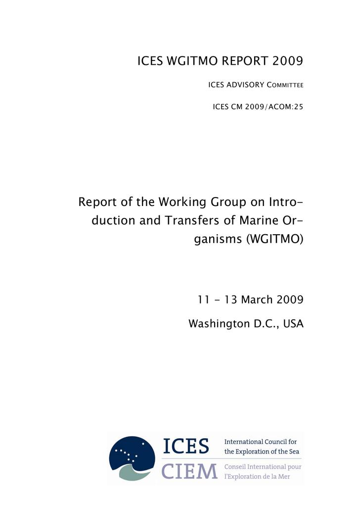 ICES WGITMO REPORT 2009