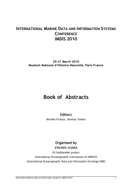 Book of  Abstracts I M