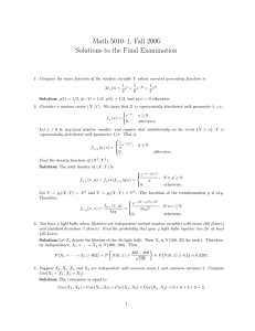Math 5010–1, Fall 2006 Solutions to the Final Examination
