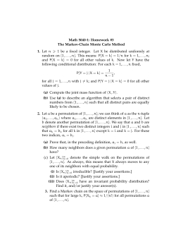 Math 5040-1: Homework #3 The Markov-Chain Monte Carlo Method 1.
