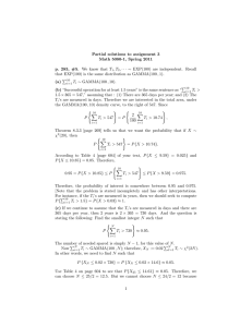 Partial solutions to assignment 3 Math 5080-1, Spring 2011 , T