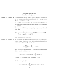Math 5090–001, Fall 2009 Solutions to Assignment 5
