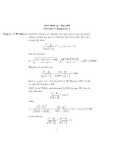 Math 5090–001, Fall 2009 Solutions to Assignment 4