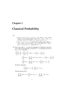 Classical Probability Chapter 1