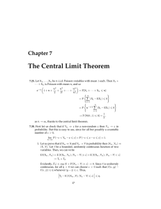 The Central Limit Theorem Chapter 7