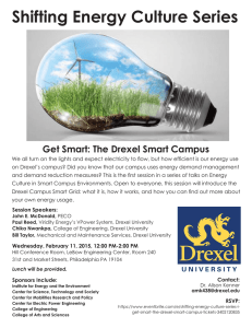 Shifting Energy Culture Series Get Smart: The Drexel Smart Campus