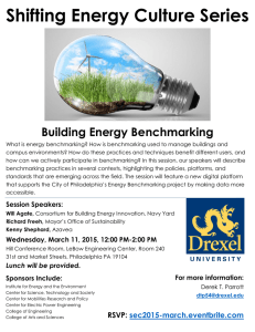 Shifting Energy Culture Series Building Energy Benchmarking